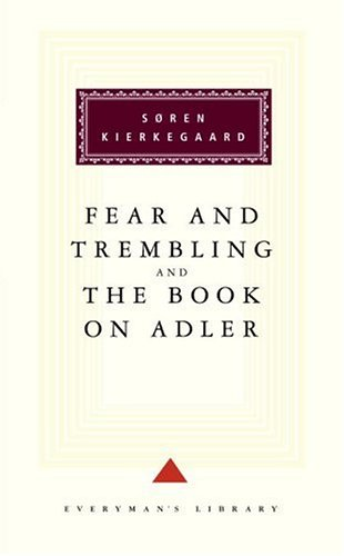 Fear and Trembling and the Book on Adler   1994 edition cover