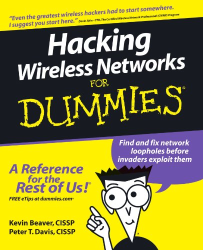 Hacking Wireless Networks for Dummies   2005 edition cover