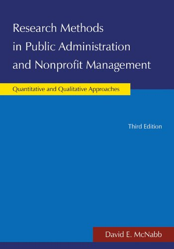 Research Methods in Public Administration and Nonprofit Management Quantitative and Qualitative Approaches 3rd 2013 (Revised) edition cover