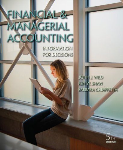 Financial and Managerial Accounting with Connect Plus  5th 2013 9781259667305 Front Cover