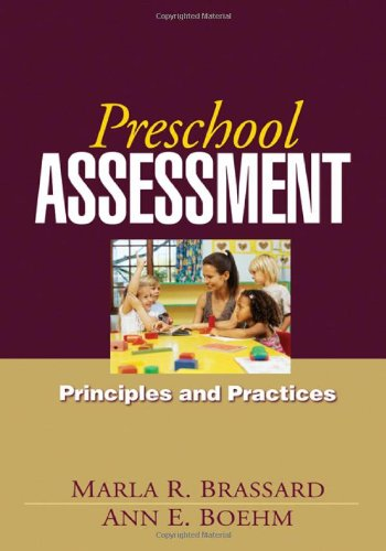 Preschool Assessment Principles and Practices  2007 9781606230305 Front Cover
