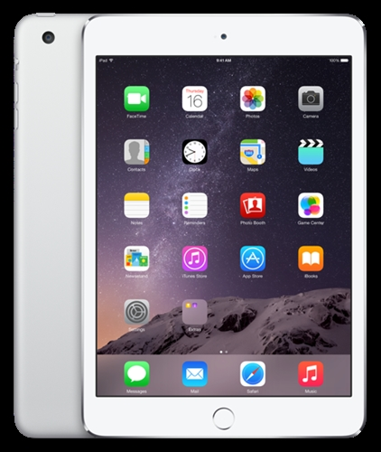 Apple iPad mini 3 - 16GB - White with Silver (Wifi Only) product image