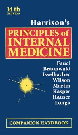 Harrison's Principles of Internal Medicine : Companion Handbook 4th 1998 edition cover