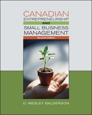 CANADIAN ENTREPRENEURSHIP+SM.B 7th 2008 edition cover