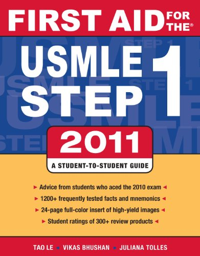 First Aid for the USMLE Step 1 2011  21st 2011 9780071742306 Front Cover