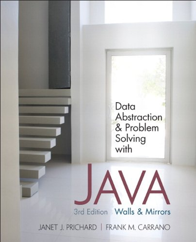 Data Abstraction and Problem Solving with Java Walls and Mirrors 3rd 2011 edition cover