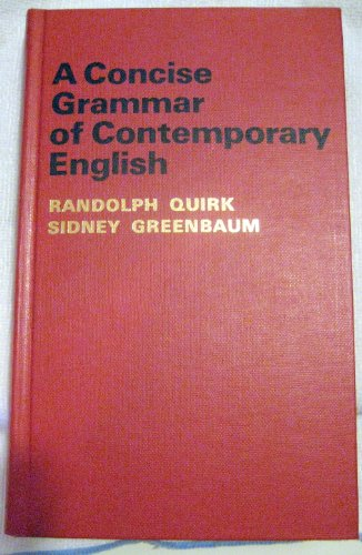 Concise Grammar of Contemporary English N/A edition cover