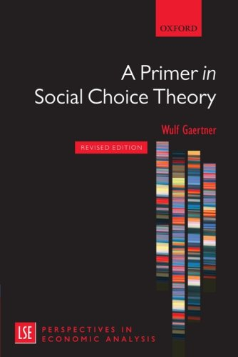 Primer in Social Choice Theory  2nd 2009 (Revised) edition cover