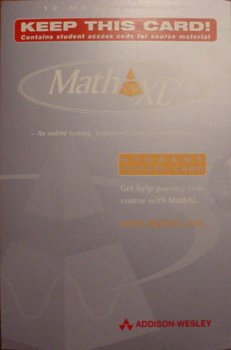 Math Xl 12 Month Student Coupon  2nd 2000 edition cover
