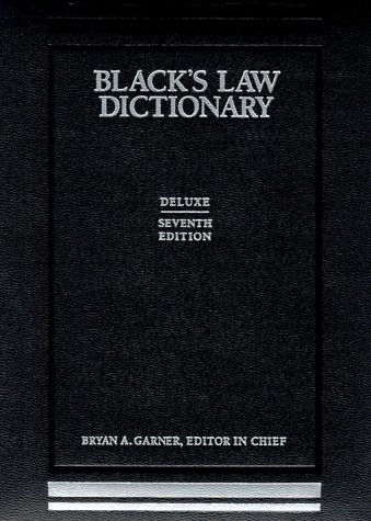 Blacks Law Dictionary 7th 1999 (Deluxe) edition cover