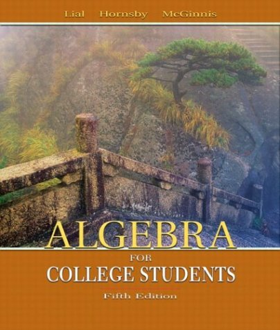 Algebra for College Students  5th 2004 (Revised) edition cover