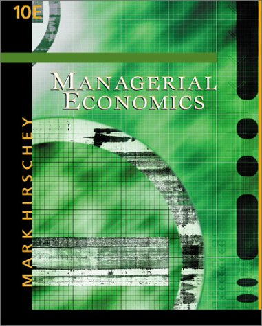 Managerial Economics with InfoTrac College Edition  10th 2003 edition cover