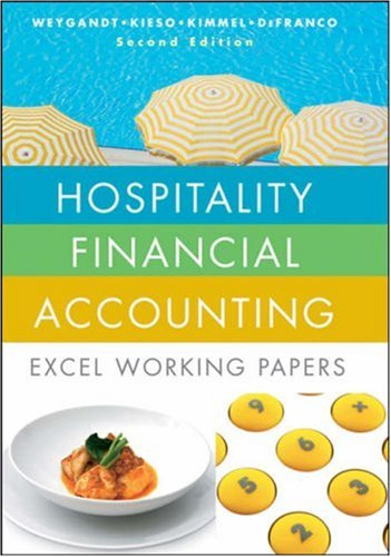 Hospitality Financial Accounting Excel Working Papers 2nd 2009 edition cover
