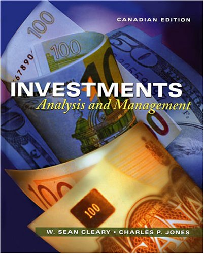 Investments Analysis and Management  1999 9780471645306 Front Cover
