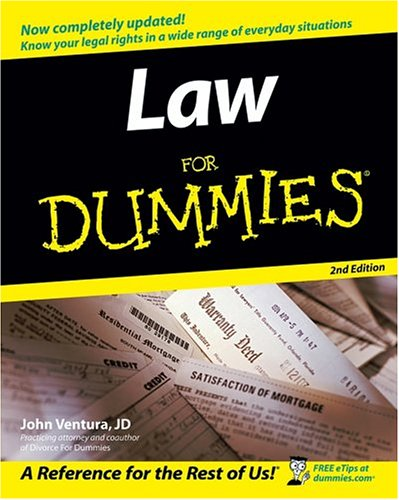 Law for Dummies�  2nd 2005 (Revised) 9780764558306 Front Cover