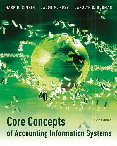Core Concepts of Accounting Information Systems  12th 2012 edition cover