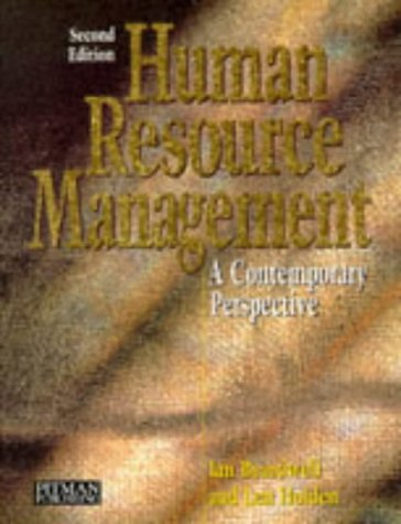Human Resources Management A Contemporary Perspective 2nd 1997 9780273622307 Front Cover