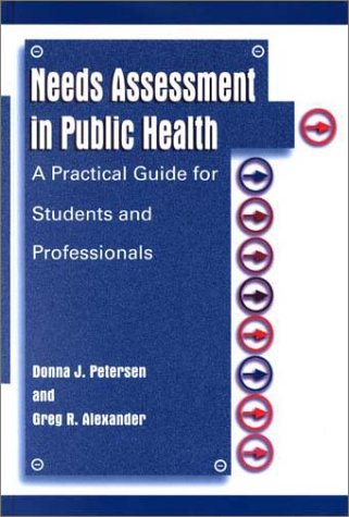 Needs Assessment in Public Health A Practical Guide for Students and Professionals  2001 edition cover