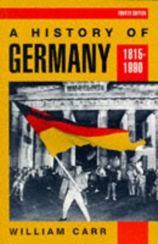 History of Germany, 1815-1990  4th 1998 (Revised) edition cover