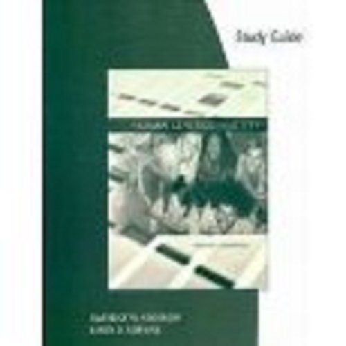 Human Genetics and Society  Guide (Pupil's) 9780495114307 Front Cover