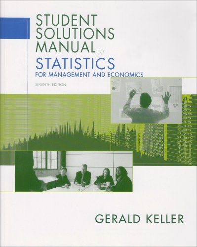 Statistics for Management and Economics  7th 2005 edition cover