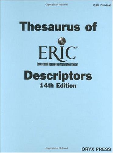 Thesaurus of Eric Descriptors  14th edition cover