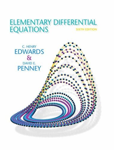 Elementary Differential Equations  6th 2008 edition cover