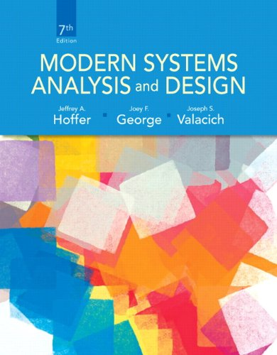 Modern Systems Analysis and Design 7th 2014 edition cover