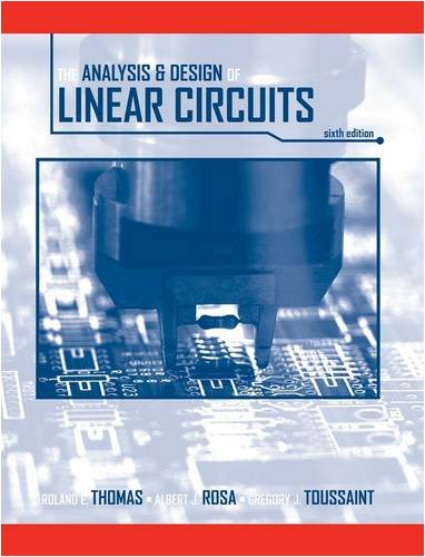 Analysis and Design of Linear Circuits  6th 2009 edition cover