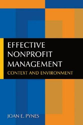 Effective Nonprofit Management Context and Environment  2011 edition cover