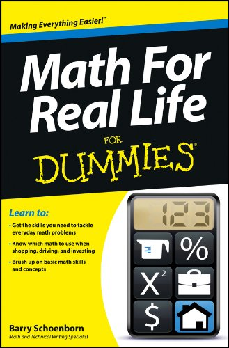 Math for Real Life for Dummies   2013 edition cover