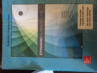 DYNAMIC BUSINESS LAW-W/ACCESS >CUSTOM<  N/A 9781259707308 Front Cover