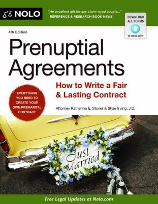 Prenuptial Agreements How to Write a Fair and Lasting Contract 4th 2012 edition cover