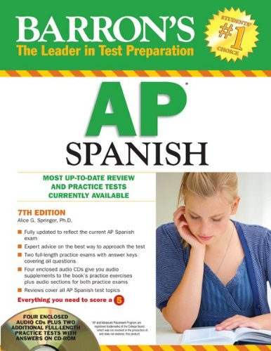 Barron's AP Spanish with Audio CDs and CD-ROM  7th 2011 (Revised) edition cover