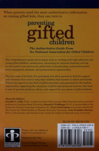 Parenting Gifted Children The Authoritative Guide from the National Association for Gifted Children  2011 edition cover