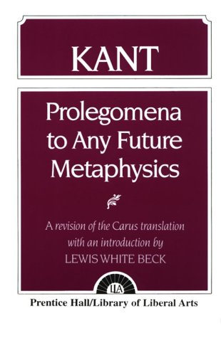 Kant Prolegomena to Any Future Metaphysics 1st 2004 edition cover