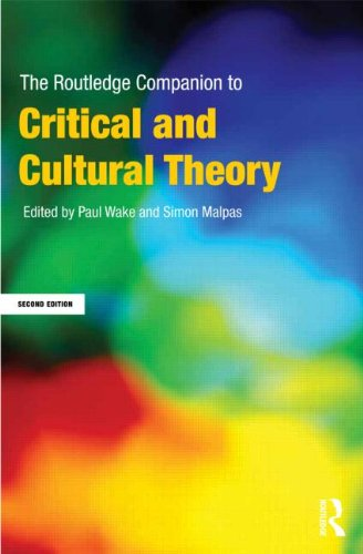 Routledge Companion to Critical and Cultural Theory  2nd 2013 (Revised) 9780415668309 Front Cover