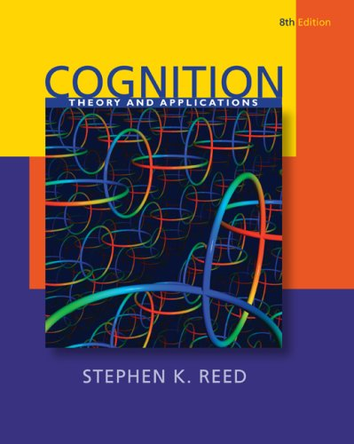 Cognition Theory and Applications 8th 2010 edition cover