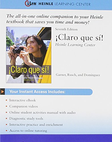 CLARO QUE SI!-ILRN ACCESS CARD N/A 9781111679309 Front Cover