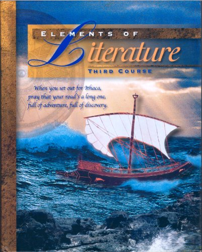 Elements of Literature 3rd Course: 1st 1997 9780030968310 Front Cover