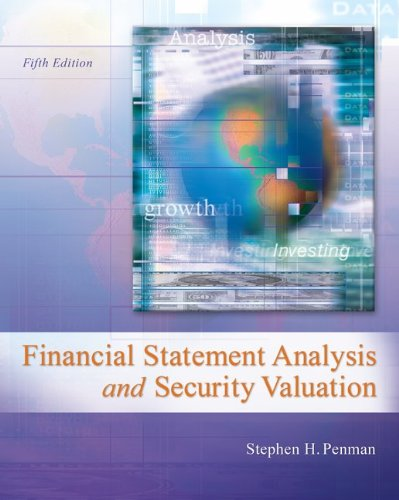 Financial Statement Analysis and Security Valuation  5th 2013 edition cover