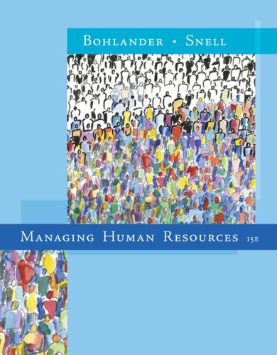 Managing Human Resources  15th 2010 edition cover