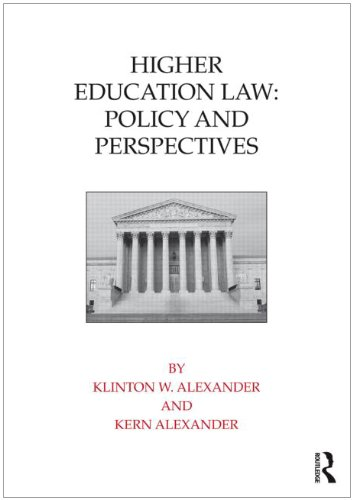 Higher Education Law Policy and Perspectives  2011 9780415800310 Front Cover