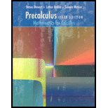 PRECALCULUS MATH.FOR CALC.-W/C 5th 2006 9780495055310 Front Cover