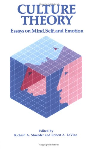 Culture Theory Essays on Mind, Self and Emotion  1984 9780521318310 Front Cover