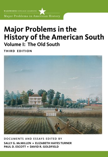 Major Problems in the History of the American South  3rd 2012 edition cover