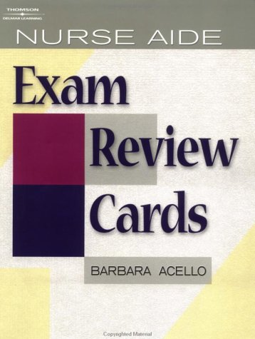 Nurse Aide Exam Review Cards Package   2003 9781401808310 Front Cover