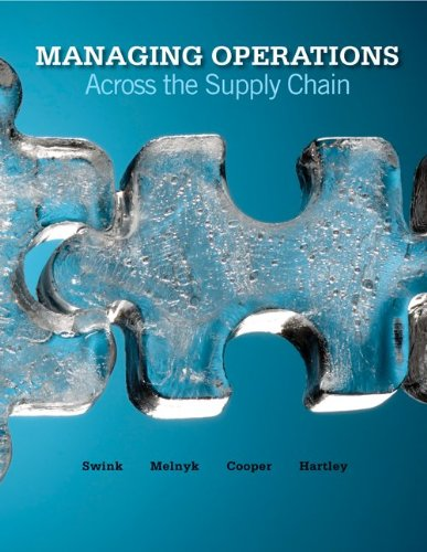 Managing Operations Across the Supply Chain   2011 edition cover