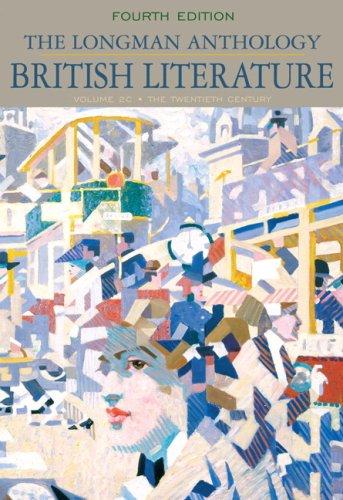 Longman Anthology of British Literature The Twentieth Century 4th 2010 edition cover