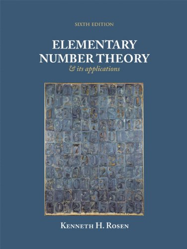 Elementary Number Theory  6th 2011 edition cover